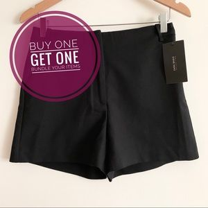 Zara Black High-waisted Shorts